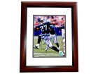 Eddie George Signed - Autographed Tennessee Titans 8x10 inch Photo MAHOGANY CUSTOM FRAME - Guaranteed to pass PSA or JSA - 1995 Heisman Trophy Winner