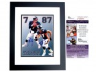 John Elway and Ed McCaffrey Signed - Autographed Denver Broncos 8x10 inch Photo BLACK CUSTOM FRAME - JSA Certificate of Authenticity
