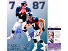 John Elway and Ed McCaffrey Signed - Autographed Denver Broncos 8x10 inch Photo - JSA Certificate of Authenticity