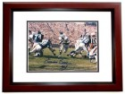 Emerson Boozer Signed - Autographed New York Jets 8x10 inch Photo MAHOGANY CUSTOM FRAME - Guaranteed to pass PSA or JSA