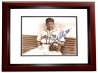 Enos Slaughter Signed - Autographed St. Louis Cardinals 8x10 Photo MAHOGANY CUSTOM FRAME (Deceased Hall of Famer)