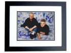 Andy Bell and Vince Clarke Signed - Autographed ERASURE 8x10 inch Photo BLACK CUSTOM FRAME - Guaranteed to pass PSA or JSA