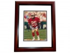 Eric Davis Signed - Autographed San Francisco 49ers 8x10 inch Photo MAHOGANY CUSTOM FRAME - Guaranteed to pass PSA or JSA