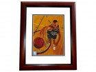 Eric Montross Signed - Autographed Boston Celtics 8x10 inch Photo MAHOGANY CUSTOM FRAME - Guaranteed to pass PSA or JSA