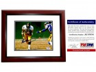 Franco Harris Signed - Autographed Pittsburgh Steelers 8x10 inch Photo MAHOGANY CUSTOM FRAME - PSA/DNA Certificate of Authenticity (COA)