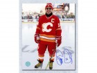 Theo Fleury Calgary Flames Signed Heritage Classic Legends 8X10 Photo