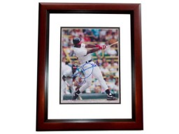 Frank Thomas Signed - Autographed Chicago White Sox 8x10 inch Photo MAHOGANY CUSTOM FRAME - Guaranteed to pass PSA or JSA