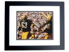 Fuzzy Thurston Signed - Autographed Green Bay Packers 8x10 inch Photo BLACK CUSTOM FRAME - Guaranteed to pass PSA or JSA