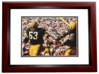 Fuzzy Thurston Signed - Autographed Green Bay Packers 8x10 Photo MAHOGANY CUSTOM FRAME