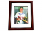 Frank Viola Signed - Autographed Minnesota Twins 8x10 inch Photo MAHOGANY CUSTOM FRAME - Guaranteed to pass PSA or JSA - 1987 World Series Champion and MVP