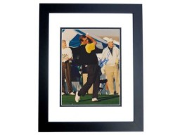 Fuzzy Zoeller Signed - Autographed Golf 8x10 inch Photo BLACK CUSTOM FRAME - Guaranteed to pass PSA or JSA - Masters Winner