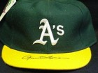 Rollie Fingers Signed Oakland A's Hat on the Bill