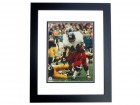 Floyd Little Autographed Denver Broncos 8x10 Photo BLACK CUSTOM FRAME