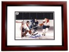 Frank Mahovich Signed - Autographed Toronto Maple Leafs 8x10 inch Photo MAHOGANY CUSTOM FRAME - Guaranteed to pass PSA or JSA - Hall of Famer