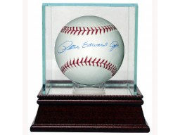 Pete Rose (Peter Edward Rose) signed MLB Baseball w/ Glass Case (Reds/Phillies)- Mounted Memories