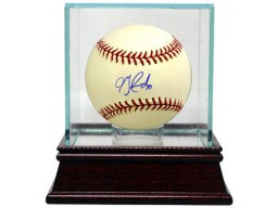 Jon Garland signed Official Major League Baseball w/ Glass Case (White Sox/Angels/Dodgers)