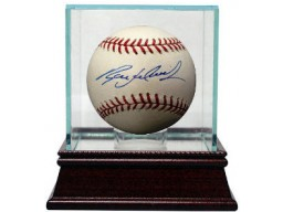 Ryan Ludwick signed Rawlings Official Major League Baseball w/ Glass Case- MLB Hologram (Cardinals/Reds)