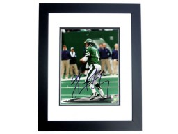 Glenn Foley Signed - Autographed New York Jets 8x10 inch Photo BLACK CUSTOM FRAME - Guaranteed to pass PSA or JSA
