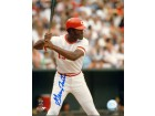 George Foster Signed - Autographed Cincinnati Reds 8x10 inch Photo - Guaranteed to pass PSA or JSA - 2x World Series Champion
