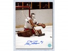 Ed Giacomin New York Rangers Signed 8X10 Butterfly Save Photo