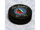 Rod Gilbert Hockey Hall Of Fame Signed Puck W/ Hof Inscription