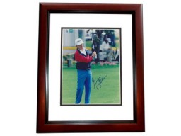 Gene Littler Signed - Autographed Golf 8x10 inch Photo MAHOGANY CUSTOM FRAME - Guaranteed to pass PSA or JSA