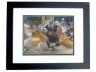 Gino Marchetti Signed - Autographed Baltimore Colts 8x10 Photo BLACK CUSTOM FRAME with 1972 Hall of Fame Inscription