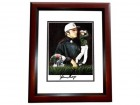 Gary Player Signed - Autographed Golf Legend 8x10 inch Photo - CUSTOM MAHOGANY FRAME - Guaranteed to pass PSA or JSA