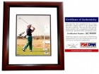 Gary Player Signed - Autographed Golf 8x10 inch Photo MAHOGANY CUSTOM FRAME - PSA/DNA Certificate of Authenticity (COA)