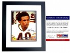 Gale Sayers Signed - Autographed Chicago Bears 11x14 inch Photo - BLACK Custom FRAME - Limited Edition - PSA/DNA Certificate of Authenticity (COA)