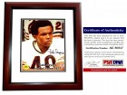 Gale Sayers Signed - Autographed Chicago Bears 11x14 inch Photo - MAHOGANY Custom FRAME - Limited Edition - PSA/DNA Certificate of Authenticity (COA)