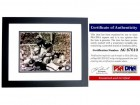 Gale Sayers Signed - Autographed Chicago Bears 8x10 inch Photo - BLACK CUSTOM FRAME - PSA/DNA Certificate of Authenticity (COA)