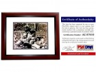 Gale Sayers Signed - Autographed Chicago Bears 8x10 inch Photo - MAHOGANY CUSTOM FRAME - PSA/DNA Certificate of Authenticity (COA)