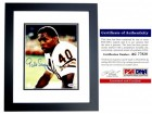Gale Sayers Signed - Autographed Chicago Bears 8x10 inch Photo with PSA/DNA Certificate of Authenticity (COA) - BLACK CUSTOM FRAME