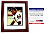 Gale Sayers Signed - Autographed Chicago Bears 8x10 inch Photo with PSA/DNA Certificate of Authenticity (COA) - MAHOGANY CUSTOM FRAME