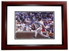 Gary Sheffield Signed - Autographed Florida Marlins 8x10 Photo MAHOGANY CUSTOM FRAME - 1997 World Series Champion