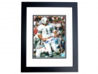 Garo Yepremian Autographed Miami Dolphins 8x10 Photo BLACK CUSTOM FRAME
