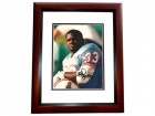 Gary Brown Signed - Autographed Houston Oilers 8x10 inch Photo MAHOGANY CUSTOM FRAME - Guaranteed to pass PSA or JSA