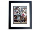 Gary Sheffield Autographed Milwaukee Brewers 8x10 Photo BLACK CUSTOM FRAME