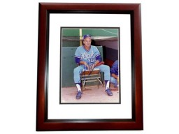 Gaylord Perry Signed - Autographed Atlanta Braves 8x10 inch Photo MAHOGANY CUSTOM FRAME - Guaranteed to pass PSA or JSA - Hall of Famer