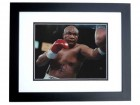 George Foreman Signed - Autographed Boxing 8x10 inch Photo BLACK CUSTOM FRAME - Guaranteed to pass PSA or JSA