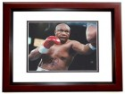 George Foreman Signed - Autographed Boxing 8x10 inch Photo MAHOGANY CUSTOM FRAME - Guaranteed to pass PSA or JSA