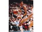 "George Gervin Autographed San Antonio Spurs 8x10 Photo with ""ICE"" Inscription"