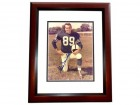 Gino Marchetti Signed - Autographed Baltimore Colts 8x10 inch Photo MAHOGANY CUSTOM FRAME - Guaranteed to pass PSA or JSA - Hall of Famer
