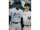 Dwight Doc / Mattingly, Don Gooden Signed 16x20 Photo