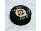 Dominik Hasek & Mike Peca Dual-Signed Buffalo Sabres Hockey Puck