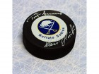 Dominik Hasek & Tom Barrasso Dual-Signed Buffalo Sabres Goalie Legends Puck