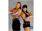Triple H / Chyna Signed 8x10 Photo By Triple H and Chyna