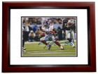 Hakeem Nicks Signed - Autographed New York Giants 8x10 inch Photo MAHOGANY CUSTOM FRAME - Guaranteed to pass PSA or JSA - XLVI Super Bowl champion