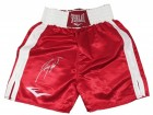 Larry Holmes Signed Everlast Red Boxing Trunks